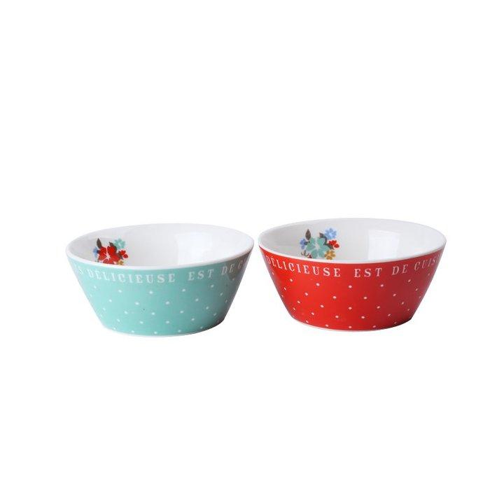 現貨 ◎日本◎ 知名雜貨可愛波點花樣陶瓷小碗