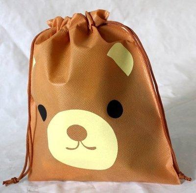 {C.A.O.小舖} 小熊 不織布料抽繩小束口袋 禮品袋