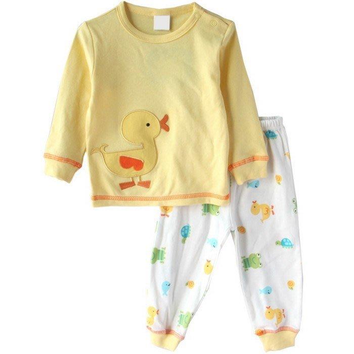 可愛《可愛小鴨款》休閒長袖套裝 (L5-3)