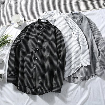 【直條長襯】休閒襯衫 韓風襯衫 上班襯衫 紳士【M-3XL】