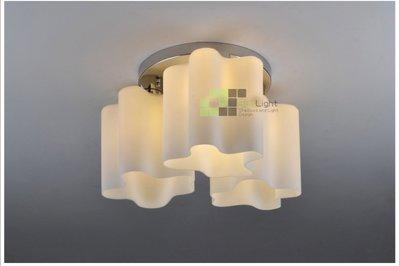 【SUN LIGHT 日光燈坊】奶白玻雲朵湖泊3頭吸頂燈,另復古工業LOFT甜甜圈PH松果IQ