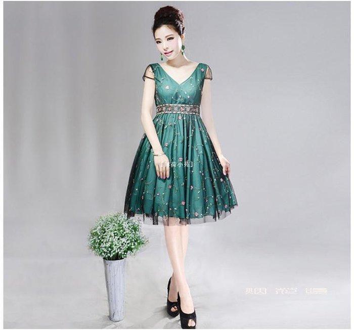『薄荷小苑』 煙花夏潮新款修身款氣質顯瘦繡花網紗蕾絲拼接連衣裙連身裙 紅石榴