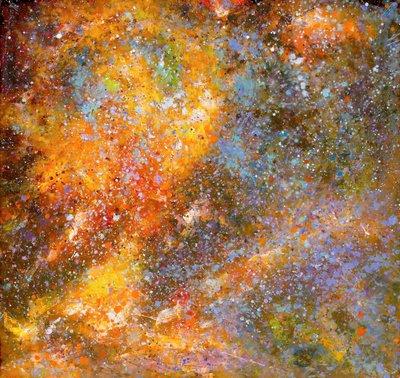 TCP作品【fixed stars and nebulas】油畫CE-0041 無框畫 抽象畫 當代藝術