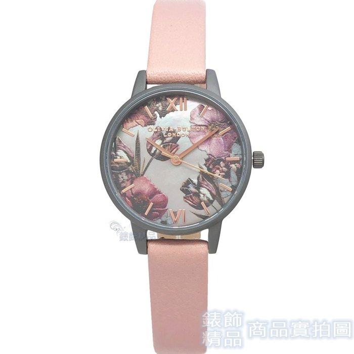 OLIVIA BURTON 手錶 OB16TW04 暮光灰色珍珠母貝錶盤 粉藕 皮帶女錶30mm【錶飾精品】