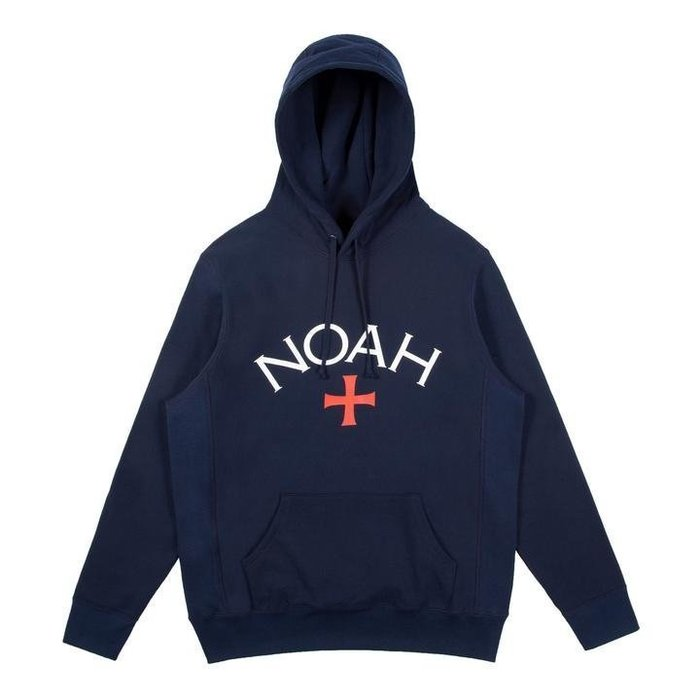 現貨 2018SS NOAH CORE LOGO HOODIE 十字架 余文樂 帽TEE 深藍 S M L 加拿大製