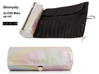 M.O.S1126 現貨 英國SkinnyDip Gloss Make up roll 光彩 化妝包 刷具包 化妝刷具包