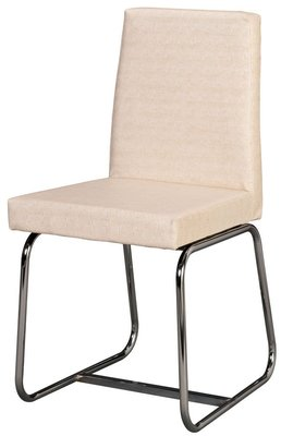 【C1960-14】莫尼電鍍餐椅(編織米白紋皮)