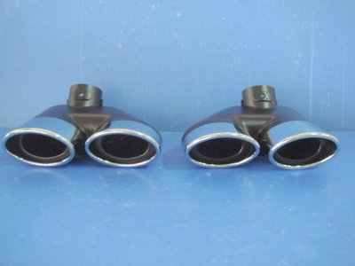 小亞車燈╠ 全新賓士BENZ W220 W211 W203 W208 白金4出排氣管 尾飾管