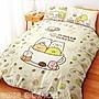 🐕[新色上市] 日本授權 角落生物系列// 單人床包雙人兩用被組 //[咖啡杯]🐈 買床包組就送角落抱枕
