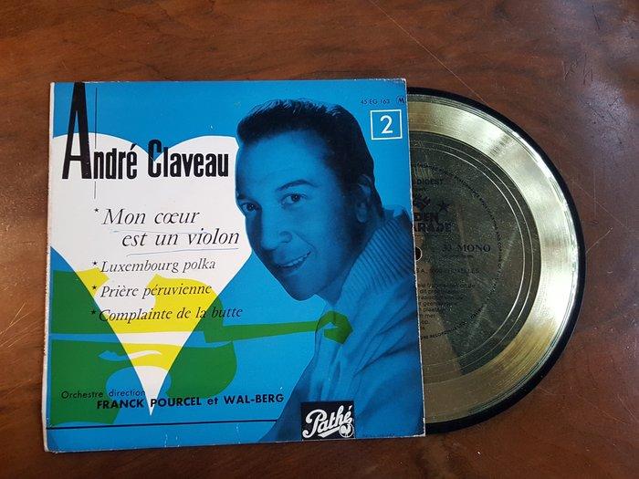 【卡卡頌 歐洲跳蚤市場/歐洲古董 】法國黑膠_Mon coeur est un violon/Andre Claveau
