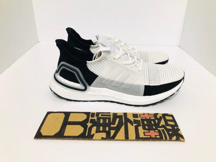 Adidas ULTRA BOOST 19 白黑 黑白 殺人鯨 針織 馬牌 慢跑 休閒 男女鞋 B37707