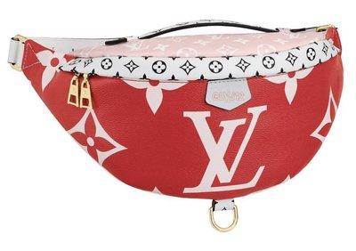 LV M44575 Bumbag 大 logo 拼色腰包 粉紅/紅 現貨