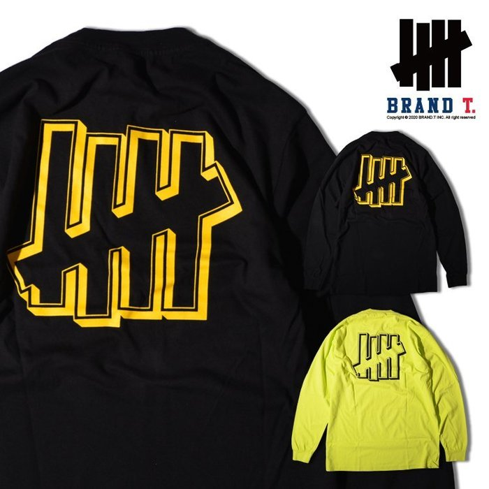 【Brand T】UNDEFEATED BORDER ICON L/S TEE 柵欄*LOGO*薄長T*經典款*2色