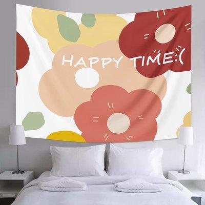 北歐in s小眾鮮 花墻壁裝 飾掛毯床 頭宿舍窗 簾遮擋網 紅直播背 景掛布