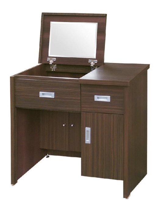 【南洋風休閒傢俱】精選時尚化妝櫃 梳妝櫃  設計櫃-胡桃2.7尺掀鏡鏡台  CY57-54