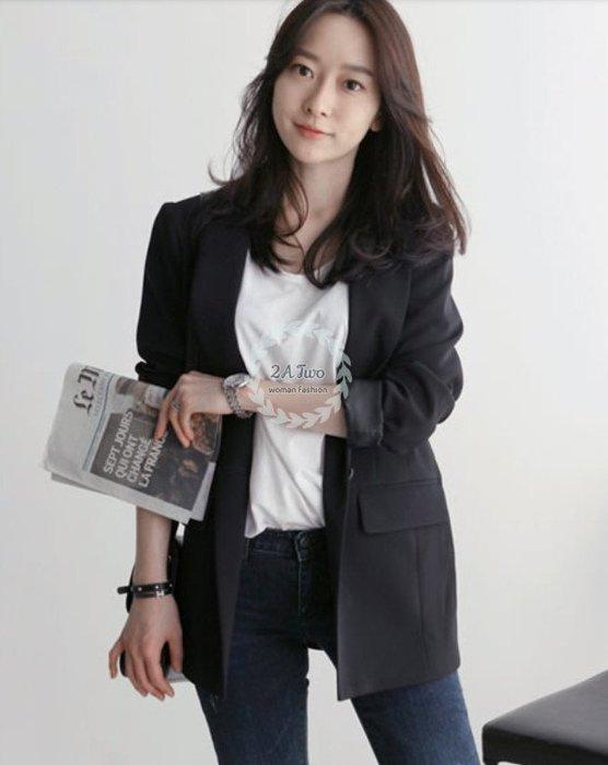 【2A Two】首爾🍒超顯瘦⌒寬鬆薄西裝外套『BA0634』