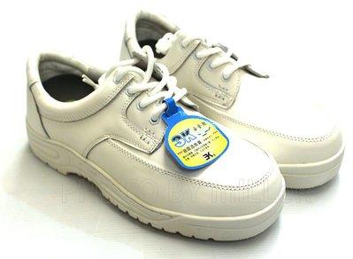 【米勒線上購物】安全鞋 3K 運動風格 安全鞋 白色 有鋼頭工作鞋 100% 台灣製 可加購鋼底
