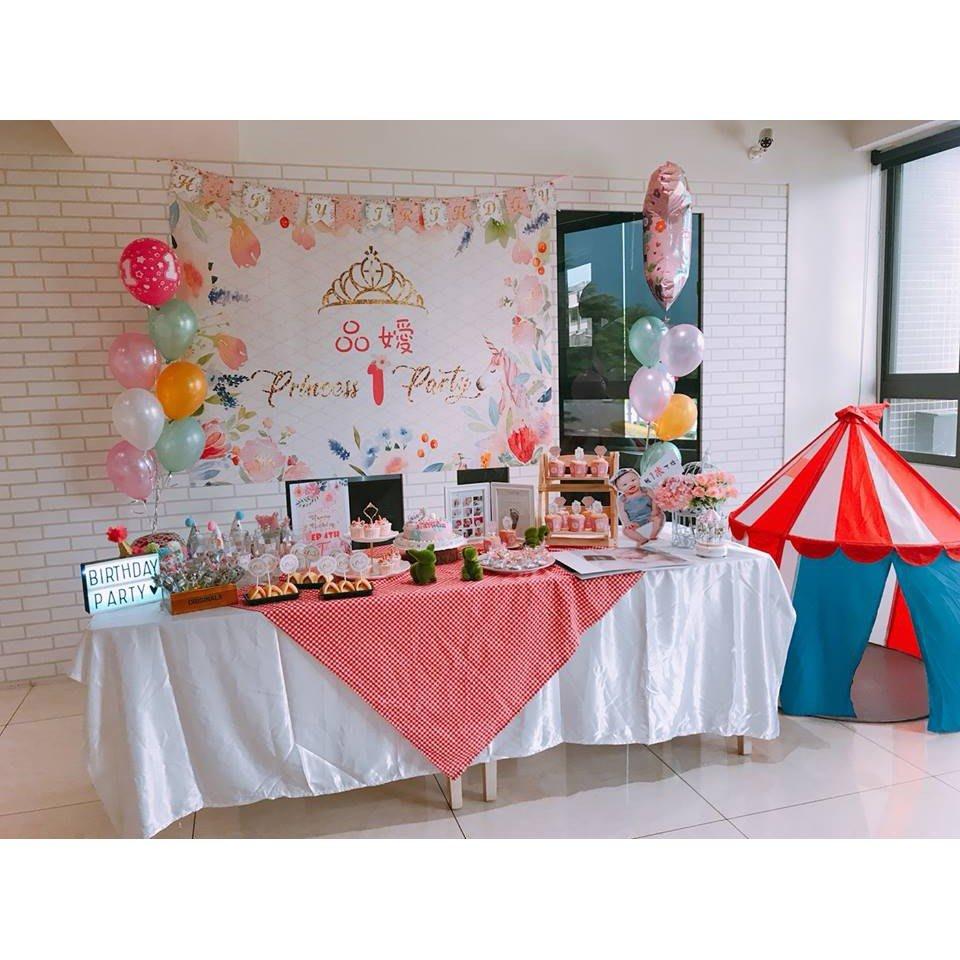 **蕾絲公主**客製化寶寶周歲主題生日派對到場佈置(地點:高雄自宅)~~佈置優惠價格意者可私訊蕾絲公主歐
