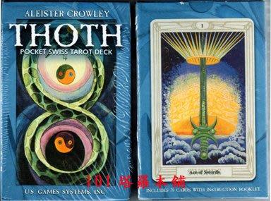 【牌的世界】克勞利托特牌Crowley Thoth Tarot (附中英文說明)(口袋版) (78張歐洲印製)