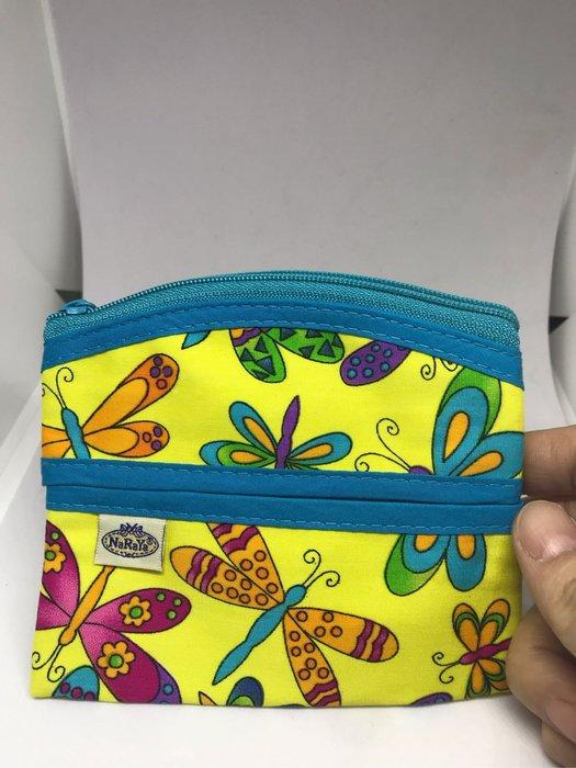 [晶藝坊]泰國曼谷包NaRaYa面紙包+零錢包(藍蝴蝶)