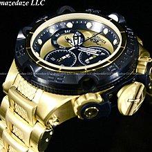 《大男人》Invicta ##565 Subaqua瑞士新龍五50MM個性潛水錶,黑金配非常漂亮(本賣場全現貨)