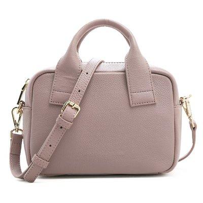 ANNA DOLLY 婉約動人Delightful頂級真皮方包 名媛芋紫 超值感奢華緞面內襯 肩背斜背皆可
