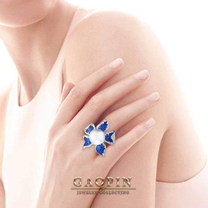 【高品珠寶】12.9mm南洋珍珠戒指 女戒 18K #3100