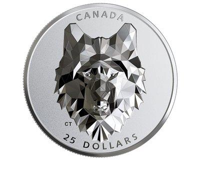 ? 2019加拿大動物頭面-超高浮雕銀幣-狼