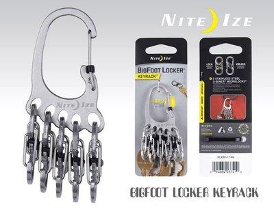 【angel 精品館 】Nite Ize BigFoot KeyRack 腳丫型不鏽鋼鑰匙圈 S-BINER帶鎖S掛勾