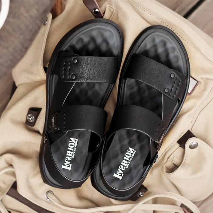 6Du spot~香港2020夏季新款涼鞋男越南沙灘鞋外穿男士潮流休閑皮涼拖鞋潮鞋