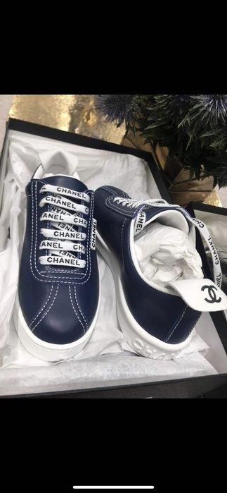 Chanel 深藍 休閒鞋 運動鞋 售出