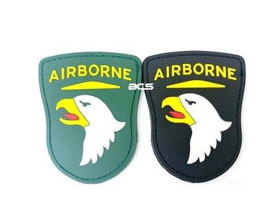 【BCS武器空間】101空降師 PVC徽章 臂章 識別章 美軍部隊章 兩色可選-DU01101 嘉義市