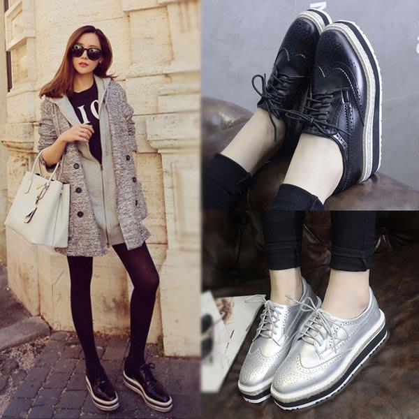 =WHITY=韓國GRAMMI品牌 韓國製  P大牌方頭設計師美腿新款軟底霧面獨家厚底鞋耐看 S6KE651