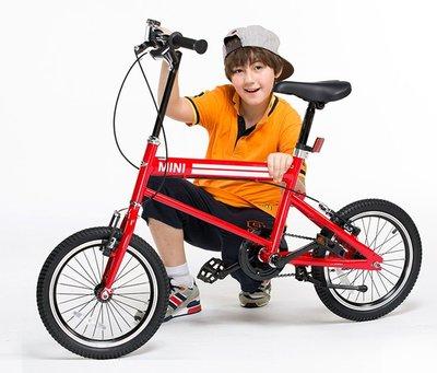 【C0008】愛妮童裝舖 免運 英國Mini Cooper 迷你小徑車16吋 總代理公司貨 保固一年 直桿設計 腳踏車