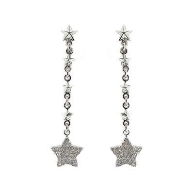 【JHT金宏總珠寶/GIA鑽石專賣】日本工藝星形鑽石耳環/材質:18K(JB46-A14)