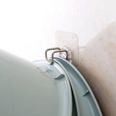 BbeeS 居家生活雜貨  不銹鋼臉盆掛鉤浴室強力粘鉤 衛生間墻上免打孔洗臉盆掛勾