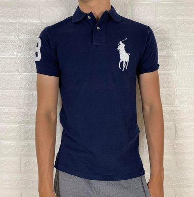 Look 鹿客 POLO Ralph Lauren 男款 大馬系列深藍POLO衫