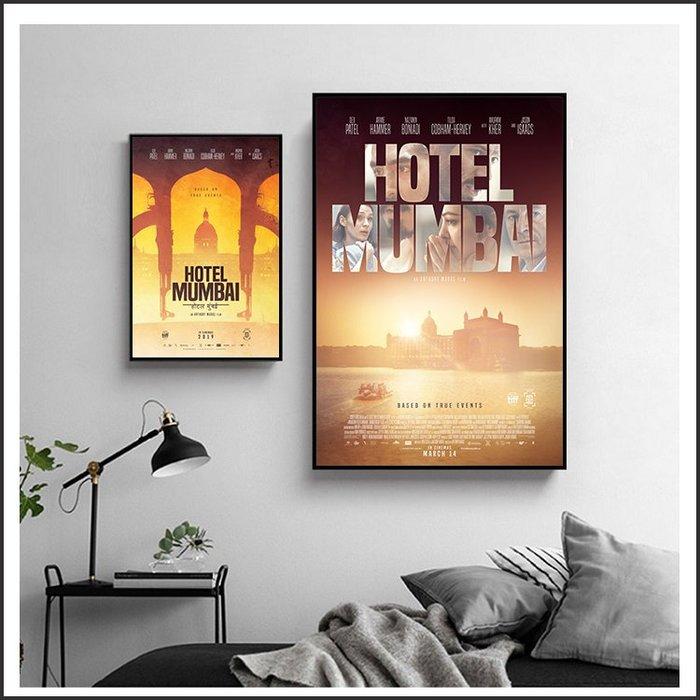 日本製畫布 電影海報 失控危城 Hotel Mumbai 掛畫 嵌框畫 @Movie PoP 賣場多款海報~