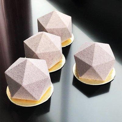 AiChef 法式甜點意大利烘焙五邊形多邊形慕斯蛋糕烘焙硅膠模具蛋糕烘焙模具