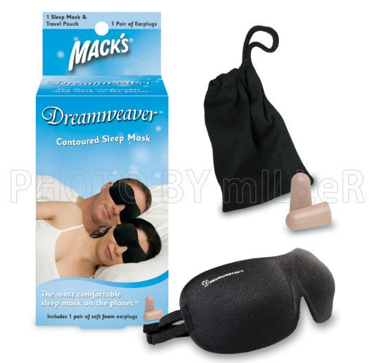 【米勒線上購物】睡眠眼罩 美國原裝進口 MACKS 麥可思 罩杯  絲質 穿戴無感設計