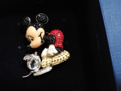 "Swarovski 2005 Mickey Mouse ""It Started with a Mouse"" Brooch"