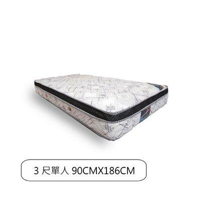 【BNS居家生活館】LOUISE路易絲台灣製獨立筒床墊(3尺單人90CMX186CM) / 單人