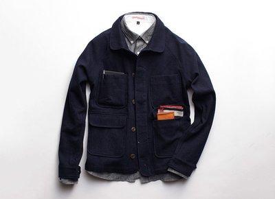 米國 Apolis Indigo Wool Chore Jacket 水洗羊毛 可養 帥到分手