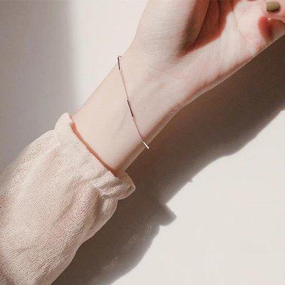 銀冷淡風ins風手鍊女韓版簡約氣質學生森系閨蜜個性小眾設計