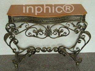 INPHIC-歐式田園鐵藝玄關桌茶几 電視櫃牆邊桌 門廳桌展廳桌