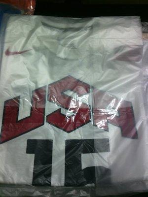 NIKE 2012 倫敦奧運 美國男籃 Carmelo Anthony 球員背號 T恤 LBJ KOBE KD 已售出