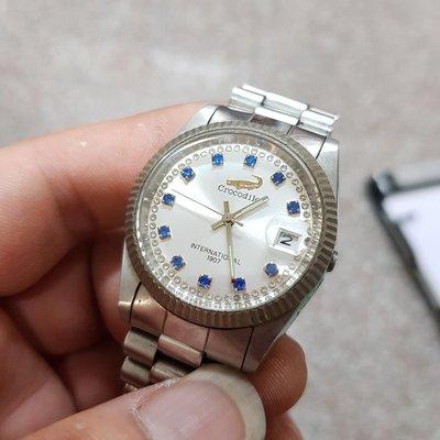 機械錶<行走順暢>Crocodile 絕版 蠔式大型 龍頭掉 老錶 另有 OMEGA SEKIO TELUX G08 潛水錶 賽車錶