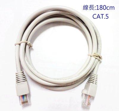 『正典UCHI電子』1米8(180CM) CAT.5e 568B RJ45雙頭 網路線 UL
