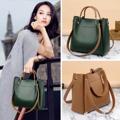 手提包包女2018新款潮韓版百搭側背包大容量單肩包大包水桶包女包