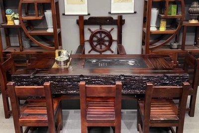 茶幾 老船木茶桌椅組合簡約辦公家具中式實木功夫茶臺小戶型家用小茶幾 雲雨尚品